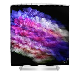 Anemone Abstract Shower Curtain by Claudia Kuhn