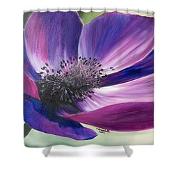 Anemone Coronaria Shower Curtain