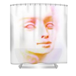 Angel Angel Oh So Bright Shower Curtain by Hartmut Jager