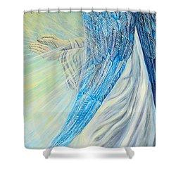 Angel Divine Shower Curtain by Caroline Street