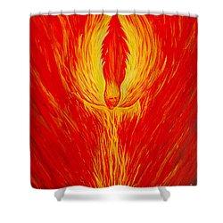 Angel Fire Shower Curtain by Nancy Cupp