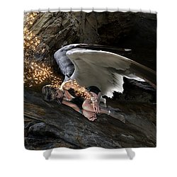 Angel- Give Your Worries To The Father Shower Curtain