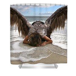 Angel- I Feel Your Sorrow  Shower Curtain