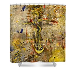 Angel In Journey Shower Curtain