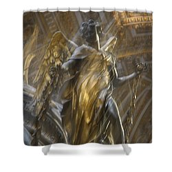 Angel In Motion Shower Curtain
