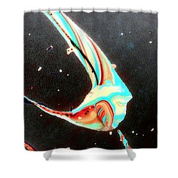 Shower Curtain featuring the painting Angel by Jacqueline McReynolds
