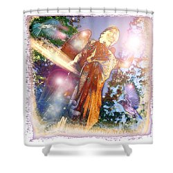 Shower Curtain featuring the photograph Angel Light by Marie Hicks