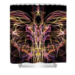 Angel Of Death Shower Curtain by Lilia D