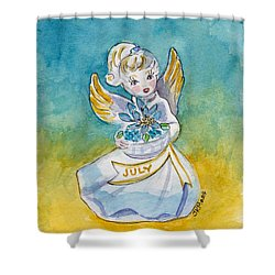 Angel Of July Shower Curtain by Julie Maas