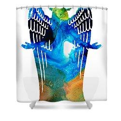 Angel Of Light - Spiritual Art Painting Shower Curtain by Sharon Cummings