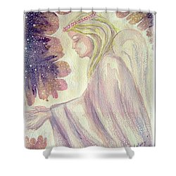Shower Curtain featuring the painting Angel Of Mercy by Leanne Seymour
