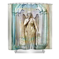 Angel Of Silence.genoa Shower Curtain by Jennie Breeze