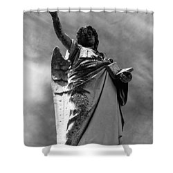 Shower Curtain featuring the photograph Angel Of The Book Of Life by Lisa Brandel