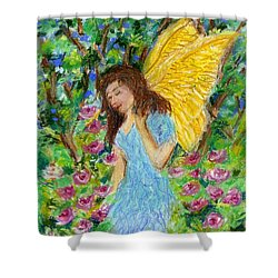 Angel Of The Garden Shower Curtain