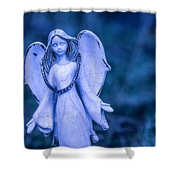 Angel Of The Rain Shower Curtain