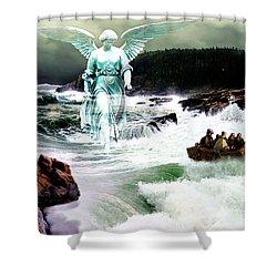 Angel Of The Storm  Shower Curtain by Lianne Schneider