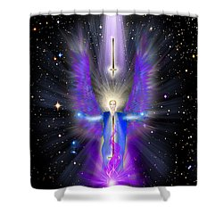 Angel Of The Violet Flame Shower Curtain