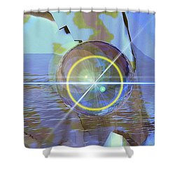 Angel Of The Water Shower Curtain by Luke Galutia