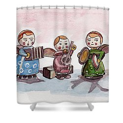Angel Orchestra Shower Curtain by Julie Maas