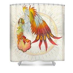 Angel Phoenix Shower Curtain by Shawn Dall