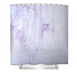 Shower Curtain featuring the painting Angel by Sandra Phryce-Jones