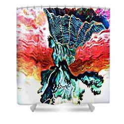 Angel Solar Shower Curtain by Genevieve Esson