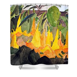 Angel Trumpets Shower Curtain
