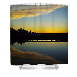 Angel Wings Sunset Shower Curtain