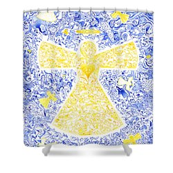 Angeli Di Leo Shower Curtain by Dave Migliore