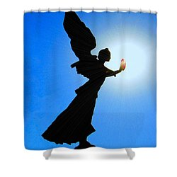 Shower Curtain featuring the photograph Angelic by Patrick Witz