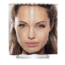 Angelina Jolie Portrait Shower Curtain