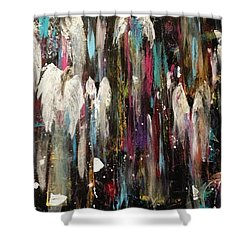 Angels Among Us Shower Curtain by Kelly Turner