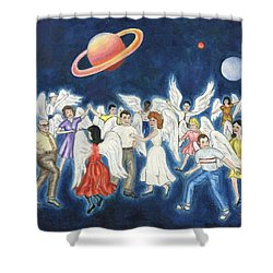 Angels Dancing Shower Curtain by Linda Mears