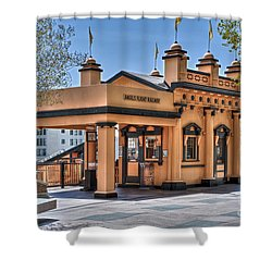 Angels Flight Landmark Funicular Railway Bunker Hill Shower Curtain