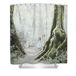 Angels In The Mist Shower Curtain