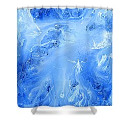 Angels In The Sky Iv Shower Curtain