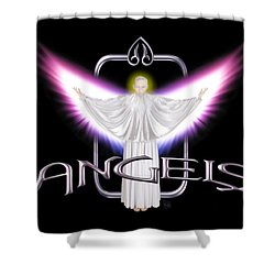 Angels Shower Curtain by Scott Ross