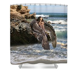 Angels- Shhh Stand Still And Be Quiet Shower Curtain