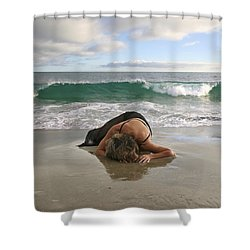 Angels- The Rapture Is Coming Shower Curtain