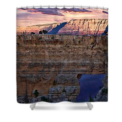 Angels Window Shower Curtain by Lana Trussell