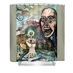 Anger Of Archon Shower Curtain