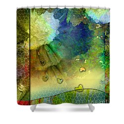 Shower Curtain featuring the painting Angiospermae by Allison Ashton