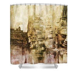 Angkor Shower Curtain by Catf