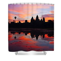 Angkor Wat Sunrise Shower Curtain