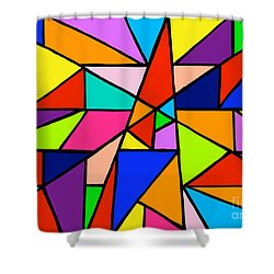 Angle Fun Shower Curtain by Anita Lewis