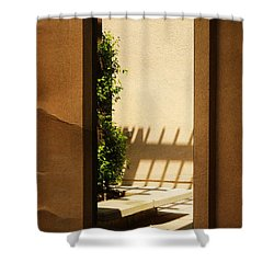 Angled Reflections2 Shower Curtain by Meghan at FireBonnet Art