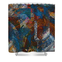 Angles And Curves Abstract Shower Curtain by Jack Zulli