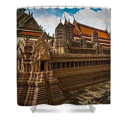 Angor Wat Miniature Shower Curtain by Inge Johnsson