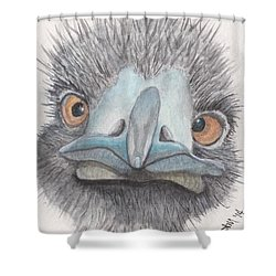 Angry Bird Ostrich Shower Curtain