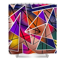 Angular Shower Curtain by Stephen Younts